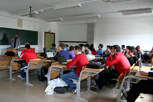 Angel Martín en el Taller de Introducción a Linux