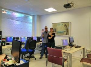 La subdirectora (Nuria Rico) y el técnico (Manuel Cogolludo)