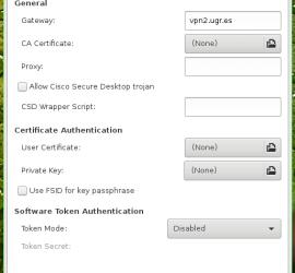 Configurar VPN con openconnect UGR
